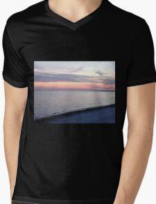 Pastel Sunset Mens V-Neck T-Shirt