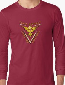 Team Instinct: Strike Like Lightning Long Sleeve T-Shirt