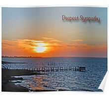 Deepest Sympathy Sunset Greeting Card Poster