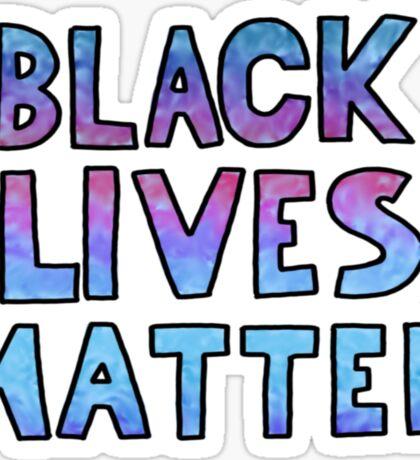 black lives matter block words Sticker