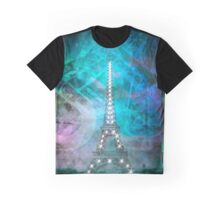 Illuminated Pop Art Eiffel Tower | Graphic Style   Graphic T-Shirt