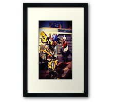 Bumblebee Flip The Bird - Transformers Framed Print