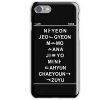 twice member hangul name iPhone Case/Skin