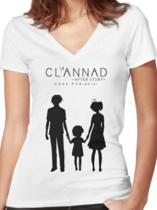 CLANNAD ~After Story~ Women's Fitted V-Neck T-Shirt