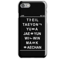 nct 127 member hangul name iPhone Case/Skin