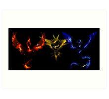 Pokemon Go: Nebula Teams Art Print
