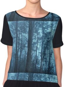 Red's Blue Woods Chiffon Top