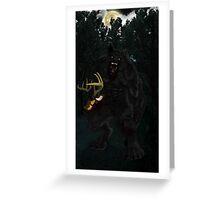 Werewolf and Deer Greeting Card