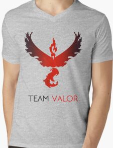 Pokemon GO! Team Valor Mens V-Neck T-Shirt