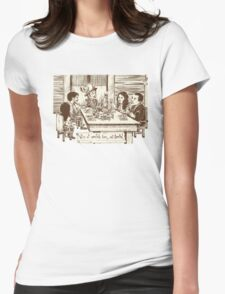 We're all cannibals here Womens Fitted T-Shirt