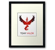Pokemon GO! Team Valor Framed Print