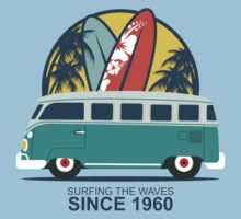 Surfing The Waves 1960 One Piece - Short Sleeve