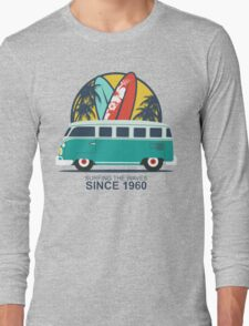 Surfing The Waves 1960 Long Sleeve T-Shirt