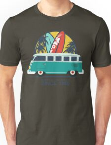 Surfing The Waves 1960 Unisex T-Shirt