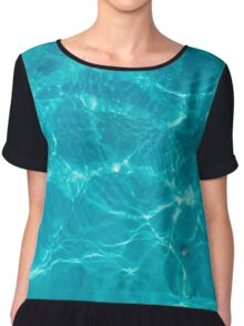 Water Texture VI - Dark Version Chiffon Top