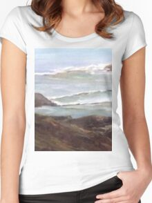 Ocean View # 201 Women's Fitted Scoop T-Shirt
