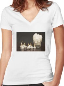 FIRE AND ICE Women's Fitted V-Neck T-Shirt