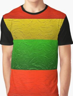 Stripes Red Yellow and Green Graphic T-Shirt