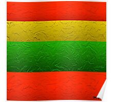 Stripes Red Yellow and Green Poster