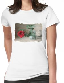 A Rose ~ In the Light of Early Morn Womens Fitted T-Shirt