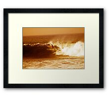 Bells Beach surf final 2012 Framed Print