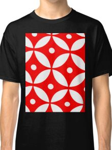 Red and White Graphic  Classic T-Shirt