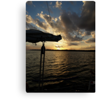Sailing into the Sunset Canvas Print