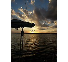 Sailing into the Sunset Photographic Print