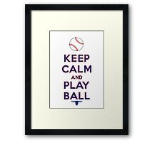 Keep Calm and Play Ball - Texas Framed Print