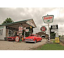 Sinclair Gas Station Photographic Print