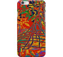 WIRE BIRD IN THE FLOWERS iPhone Case/Skin