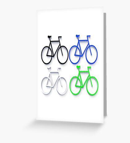 4 bicycles Greeting Card