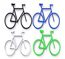 4 bicycles Photographic Print