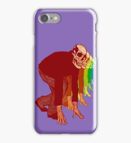 Racing Rainbow Skeletons iPhone Case/Skin