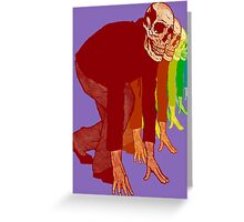 Racing Rainbow Skeletons Greeting Card