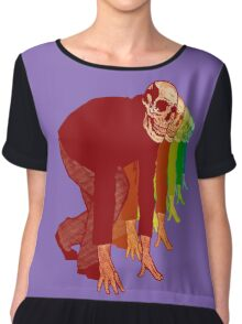 Racing Rainbow Skeletons Chiffon Top