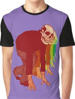 Racing Rainbow Skeletons Graphic T-Shirt