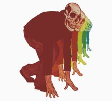 Racing Rainbow Skeletons Kids Tee