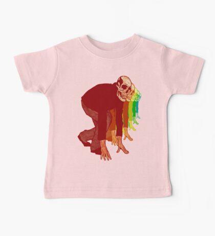 Racing Rainbow Skeletons Baby Tee