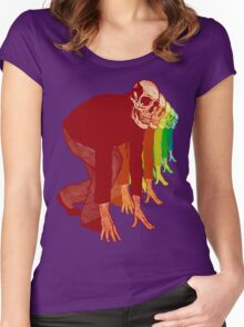 Racing Rainbow Skeletons Women's Fitted Scoop T-Shirt