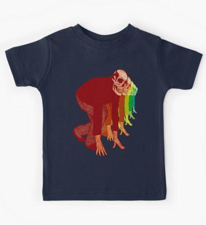 Racing Rainbow Skeletons Kids Tee