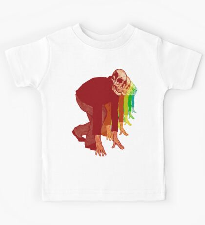 Racing Rainbow Skeletons Kids Clothes