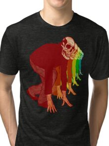Racing Rainbow Skeletons Tri-blend T-Shirt