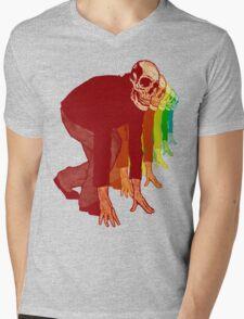Racing Rainbow Skeletons Mens V-Neck T-Shirt