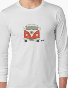 Volkswagen retro car, peace and love Long Sleeve T-Shirt