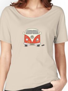 Volkswagen retro car, peace and love Women's Relaxed Fit T-Shirt