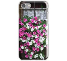 Pink And White Petunias iPhone Case/Skin