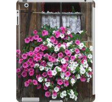 Pink And White Petunias iPad Case/Skin