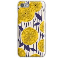 Round yellow floral pattern iPhone Case/Skin