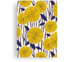 Round yellow floral pattern Canvas Print